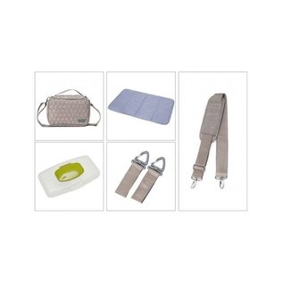 Soho Collections Light Grey Union Square Tote Diaper Bag