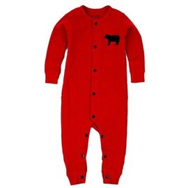 Little Blue House Red Bear Bum Infant Coverall