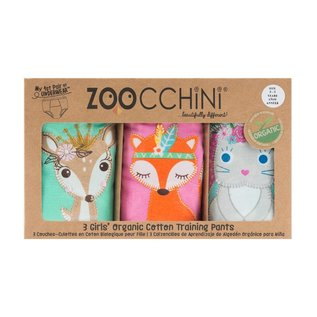Zoochini Training Pant 3 Pack, Woodland Princess