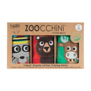 Zoochini Training Pant 3 Pack, Forest Chums