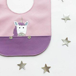 Mally Bibs Unicorn Leather Bib
