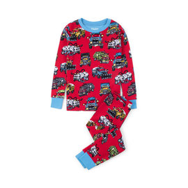 Hatley Organic Monster Trucks PJ Set