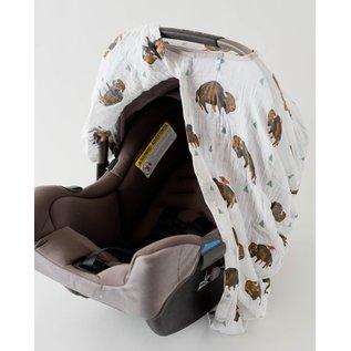 Little Unicorn Bison Muslin Car Seat Canopy
