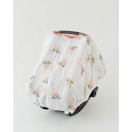 Little Unicorn Watercolour Roses Muslin Car Seat Canopy