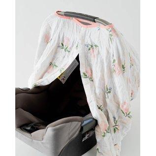 Little Unicorn Watercolour Rose Muslin Car Seat Canopy