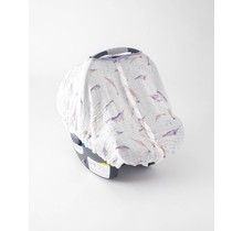 Narwhal Muslin Car Seat Canopy