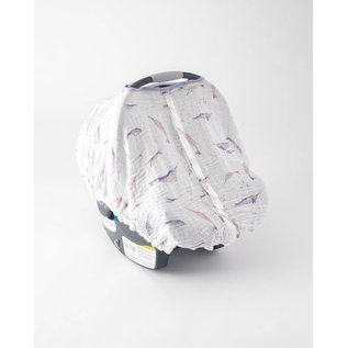 Little Unicorn Narwhal Muslin Car Seat Canopy