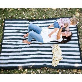 Little Unicorn Black & White Stripe Outdoor Blanket
