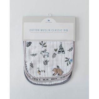 Little Unicorn Forest Friends Cotton Muslin Bib 3pk