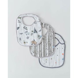 Little Unicorn Forest Friends Cotton Muslin Bib 3pk