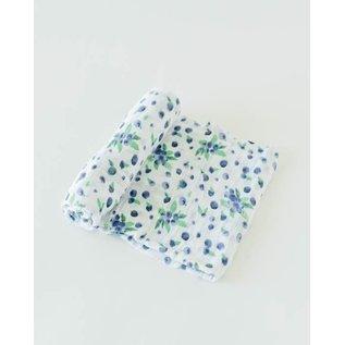 Little Unicorn Blueberry Cotton Muslin Swaddle
