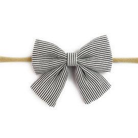 Black & White Stripe Bow