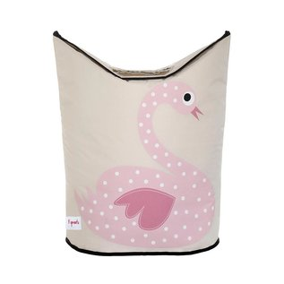 3 Sprouts Laundry Hamper, Swan