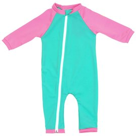 NoZone Opal/Bouquet Full Zip Baby Swimsuit