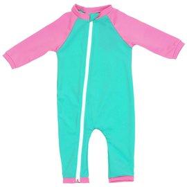 NoZone Opal/Bouquet Full Zip Baby Swimsuit