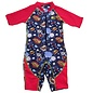 NoZone Bang Boom Red Kids Ultimate One-Piece Sun Protective Swim Suit