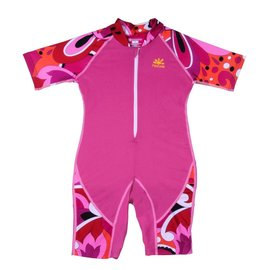 NoZone Fuchsia/Brandi Kids Ultimate One-Piece Sun Protective Swim Suit