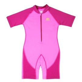 NoZone Bahama/Fuchsia Kids Ultimate One-Piece Sun Protective Swim Suit