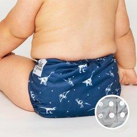 La Petite Ourse One-Size Snap Pocket Diaper, Dino