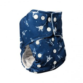 La Petite Ourse One-Size Snap Diaper, Dino