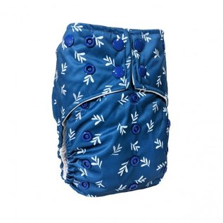 La Petite Ourse One-Size Snap Diaper, Twigs