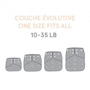 La Petite Ourse One-Size Snap Pocket Diaper, Bouquet