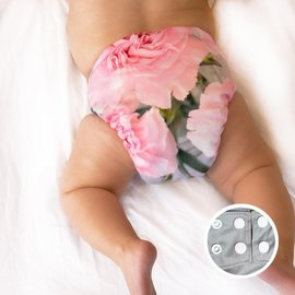 La Petite Ourse One-Size Snap Diaper, Bouquet