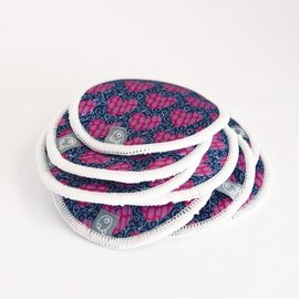 La Petite Ourse Hearts Bamboo Breast Pads 10 pack