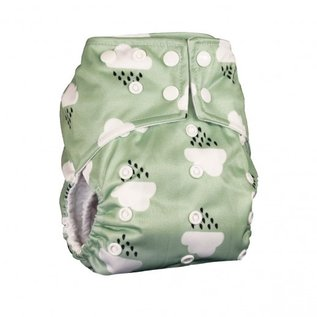 La Petite Ourse One-Size Snap Diaper, Cloud
