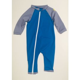 NoZone Smurf/Titanium Full Zip Baby Swimsuit