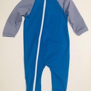 Smurf/Titanium Full Zip Baby Swimsuit