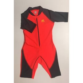 NoZone Flash/Charcoal Kids Ultimate One-Piece Sun Protective Swim Suit
