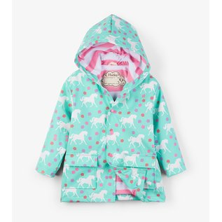 Hatley Colour Changing Galloping Horses Rain Coat