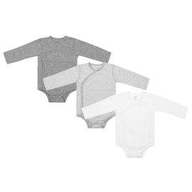 Nest Designs Organic Cotton L/S Kimono Onesie 3 Pack