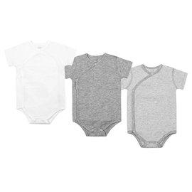 Nest Designs Organic Cotton S/S Kimono Onesie 3 Pack