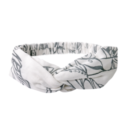 Nest Designs Feather White Bamboo Headband