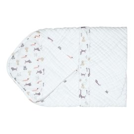 Nest Designs Puppy 9-Layer Organic Cotton Hooded Towel Wrap