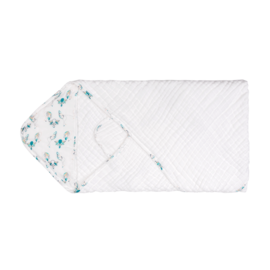 Nest Designs Peacock 9-Layer Organic Cotton Hooded Towel Wrap