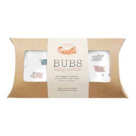 Piggy Bamboo Wash Cloth Set, 6 pack