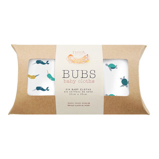 Nest Designs Turtle & Narwhal Bamboo Wash Cloth Set, 6 pack