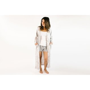 Nest Designs Feather Grey Women's Bamboo Robe