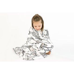 Nest Designs Fish White 4-Layer Nesting Blanket