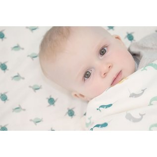 Nest Designs Turtle & Narwhal Bamboo Swaddle 2 pack