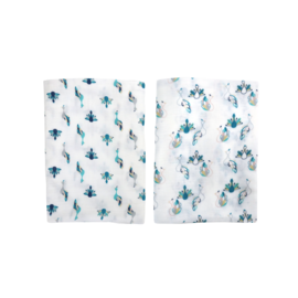 Nest Designs Peacock Bamboo Swaddle 2 pack