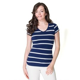 Momzelle Nursing Top, CHRISTINE, Navy Stripe