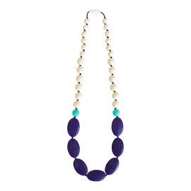Momzelle Nursing Necklace, Navy/Cream
