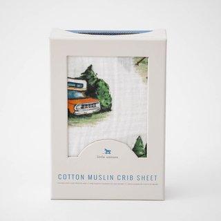 Happy Camper Cotton Muslin Crib Sheet