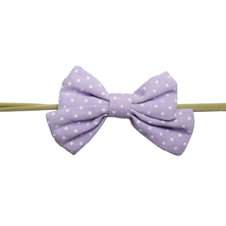 Lavender & White Sailor Bow