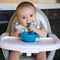 Deep Blue Silicone Bowl, Lid & Spoon Set