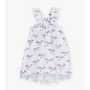 Hatley Adorable Narwhales Baby Criss Cross Dress